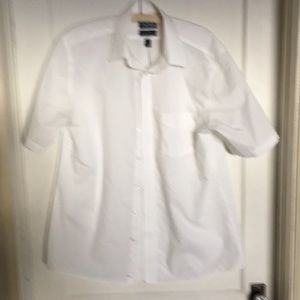 Men's cotton shirt neck 16.5 Stafford white